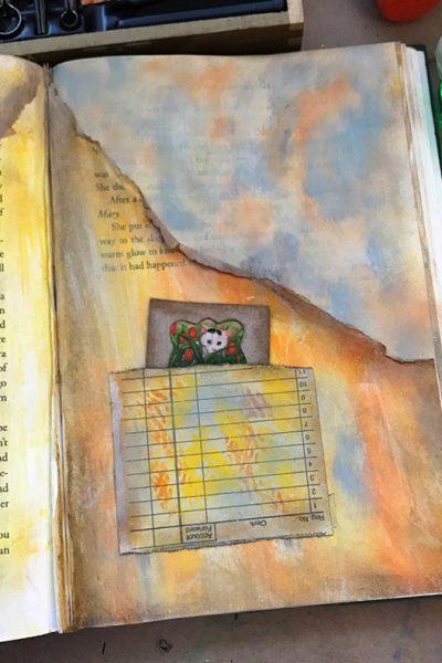 Window Hack Portal in a Junk Journal Pocket