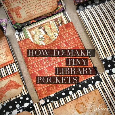 How to Make Tiny Library Pockets for Junk Journals!