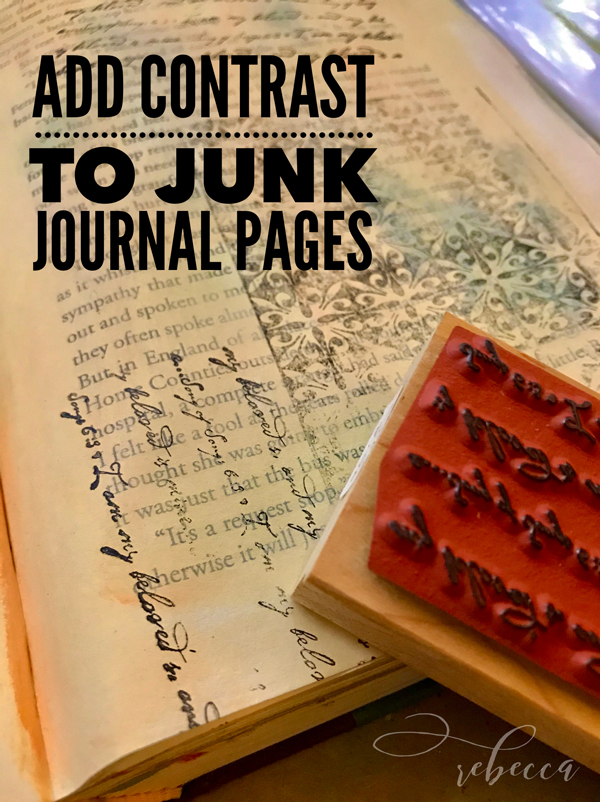 Add COntrast to Junk Journal Pages