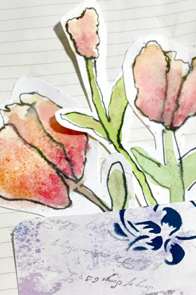 Easy Watercolor Flower in a Pot Feature