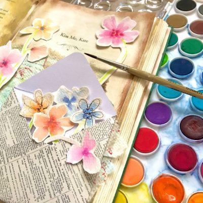 Easy Dip Dot Watercolor Flowers Tutorial!