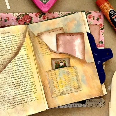 Quick Pockets in Altered Books and Junk Journals Tutorial!