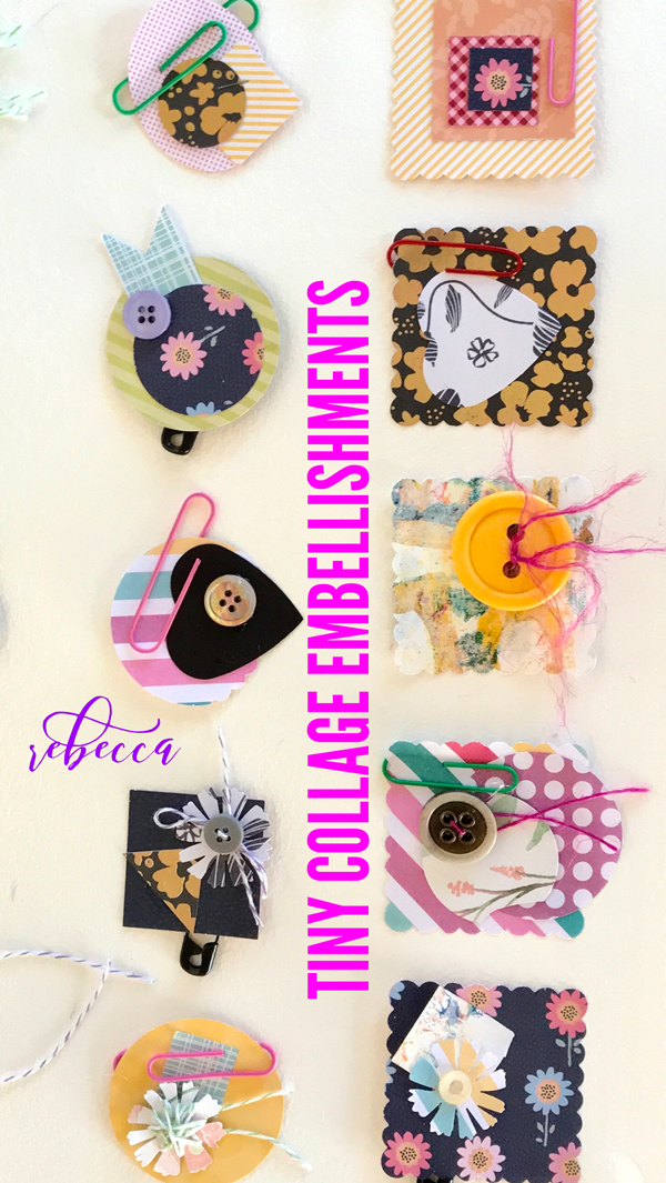 Tiny Collage Embellishments PIN