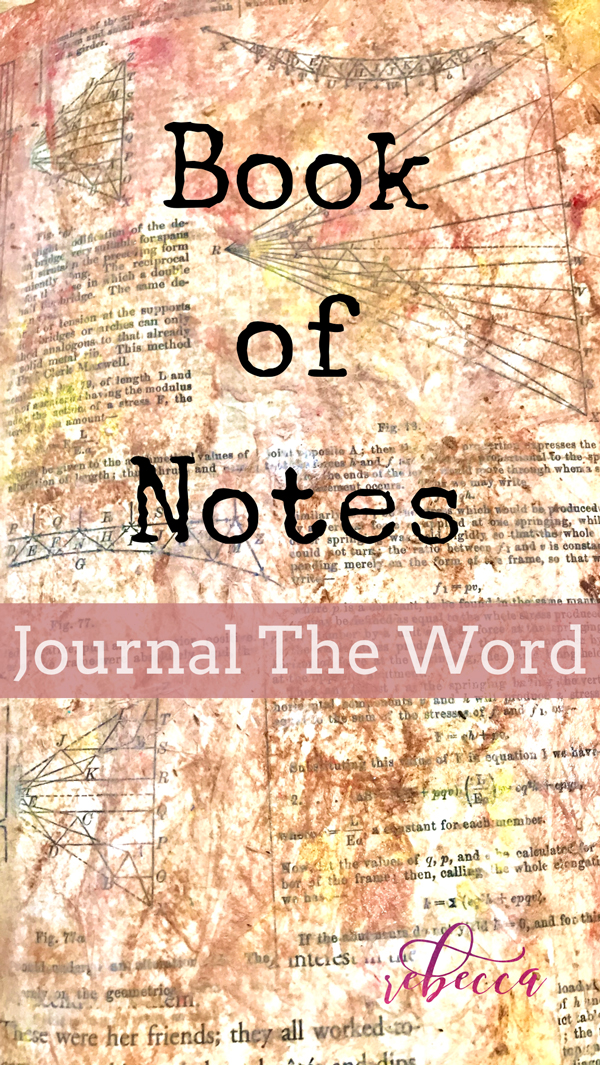 Bible Journaling Book of Notes Day 3 PIN