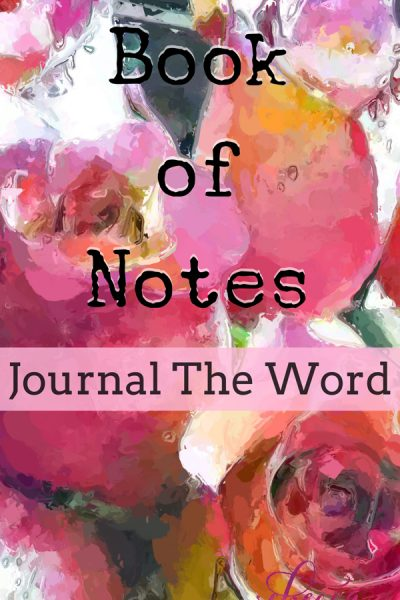 Do you Bible Journal? Book of Notes Journal The Word