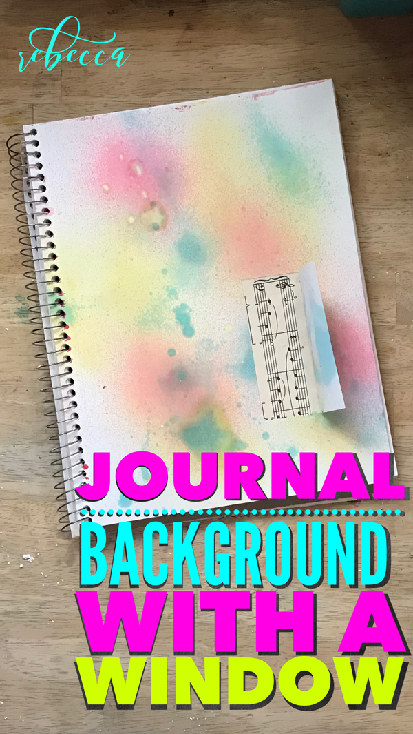 Journal Background with a Window Pin